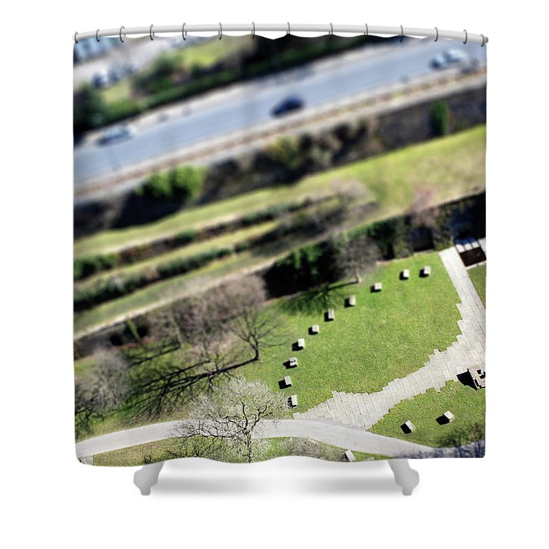 England Shower Curtain featuring the photograph Liverpool From Above, Tilt-shift Lens by Ilbusca