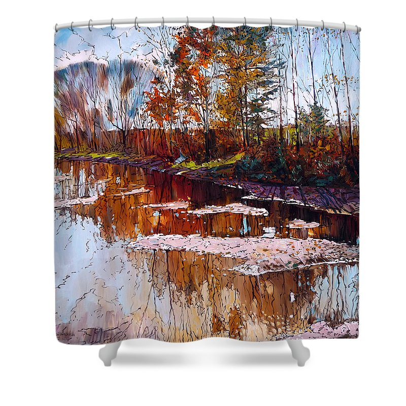 Tranquility Shower Curtain featuring the digital art Lonely Days by Colorfull Landscape