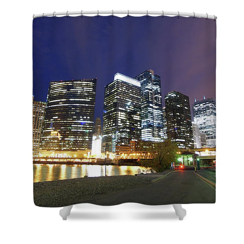 Chicago River Shower Curtain featuring the photograph Long Exposure Of Chicago by Photographed By Christopher James Botham
