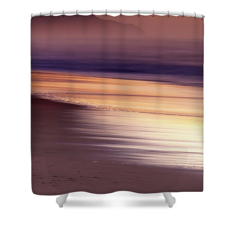 Tranquility Shower Curtain featuring the photograph Long Exposure Of Water At Dawn With by Emil Von Maltitz