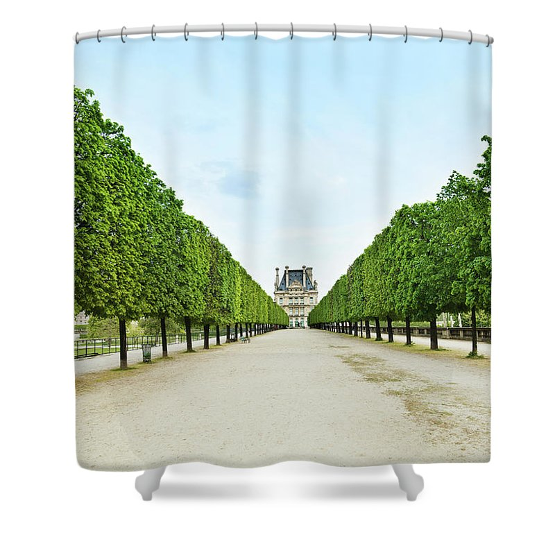 Scenics Shower Curtain featuring the photograph Louvre In Paris by Nikada