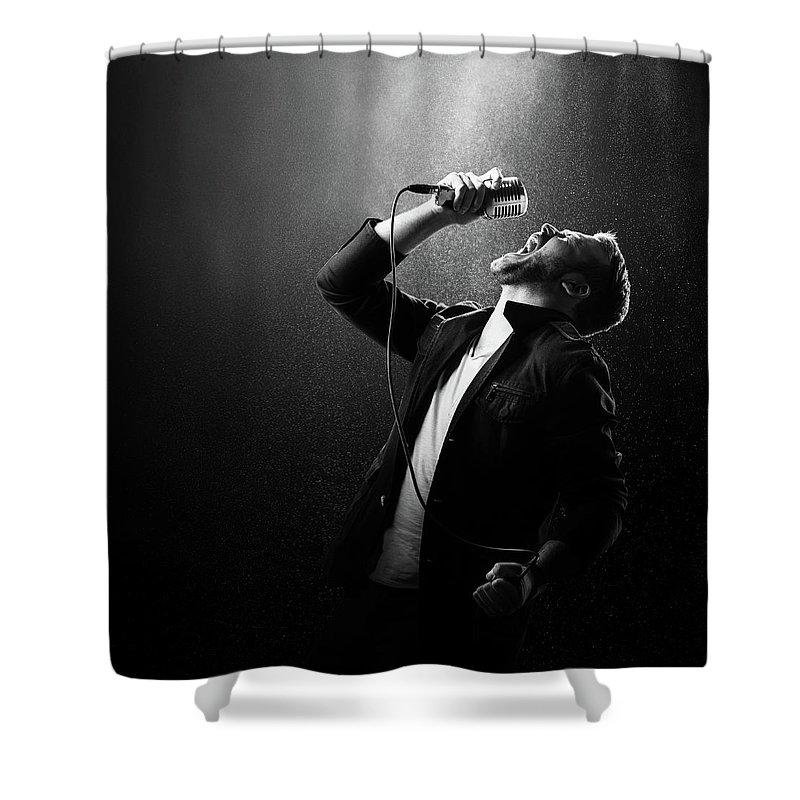 Singing Photographs Shower Curtains