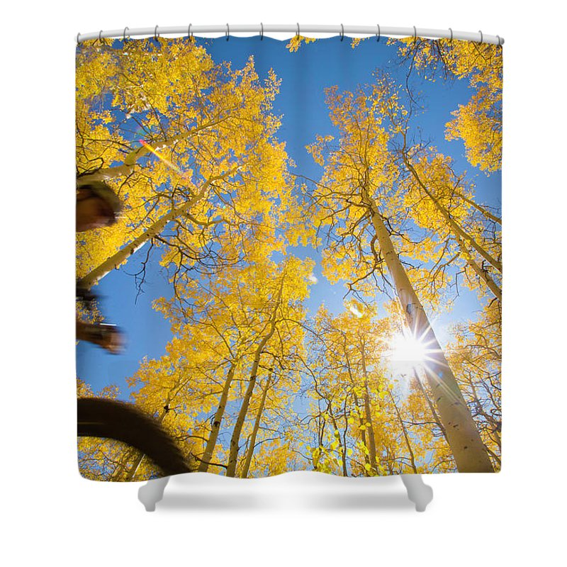 Mature Adult Shower Curtain featuring the photograph Man Ride by David Epperson