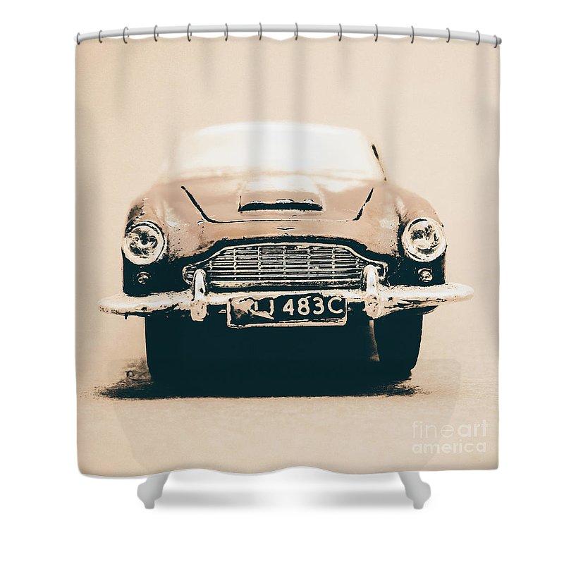 Aston Martin Shower Curtain featuring the photograph Martin Miniature by Jorgo Photography - Wall Art Gallery