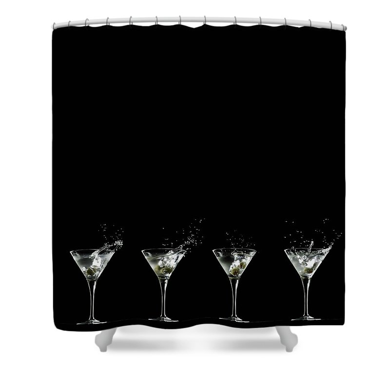 Martini Glass Shower Curtain featuring the photograph Martini Splash by Monica Rodriguez