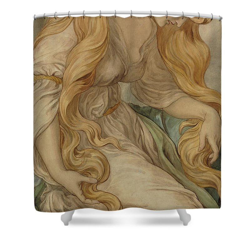 Mary Magdalene Shower Curtain featuring the painting Mary Magdalene, 1879 by Frederic James Shields