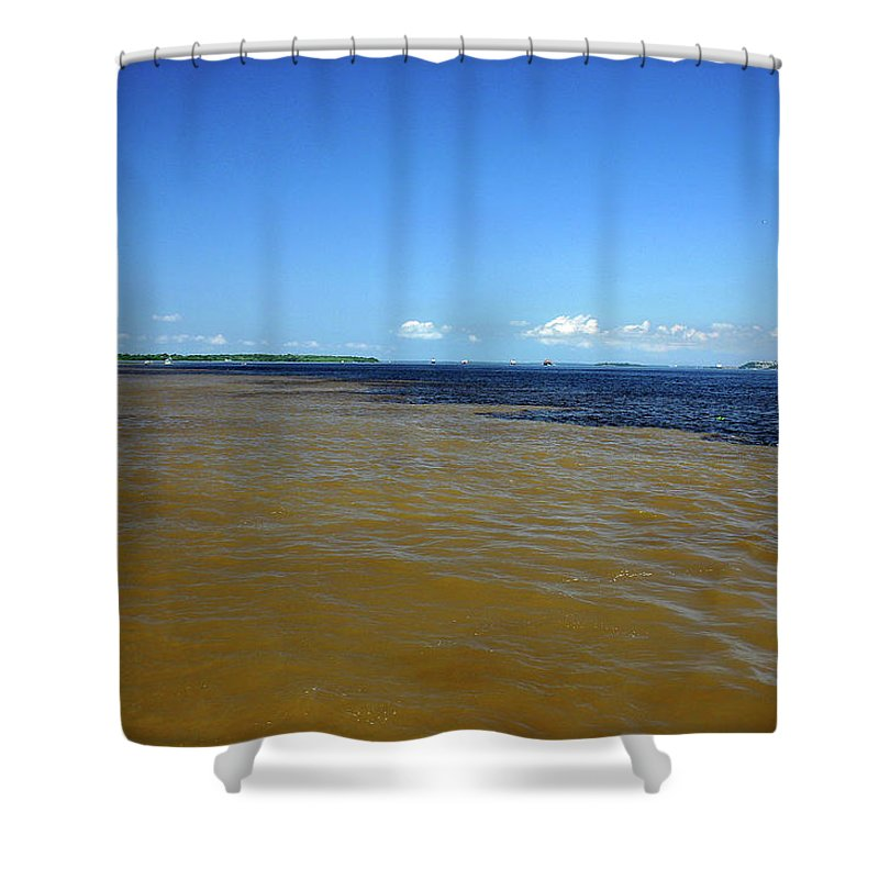 Scenics Shower Curtain featuring the photograph Meeting Of Waters by Eduardo Bassotto