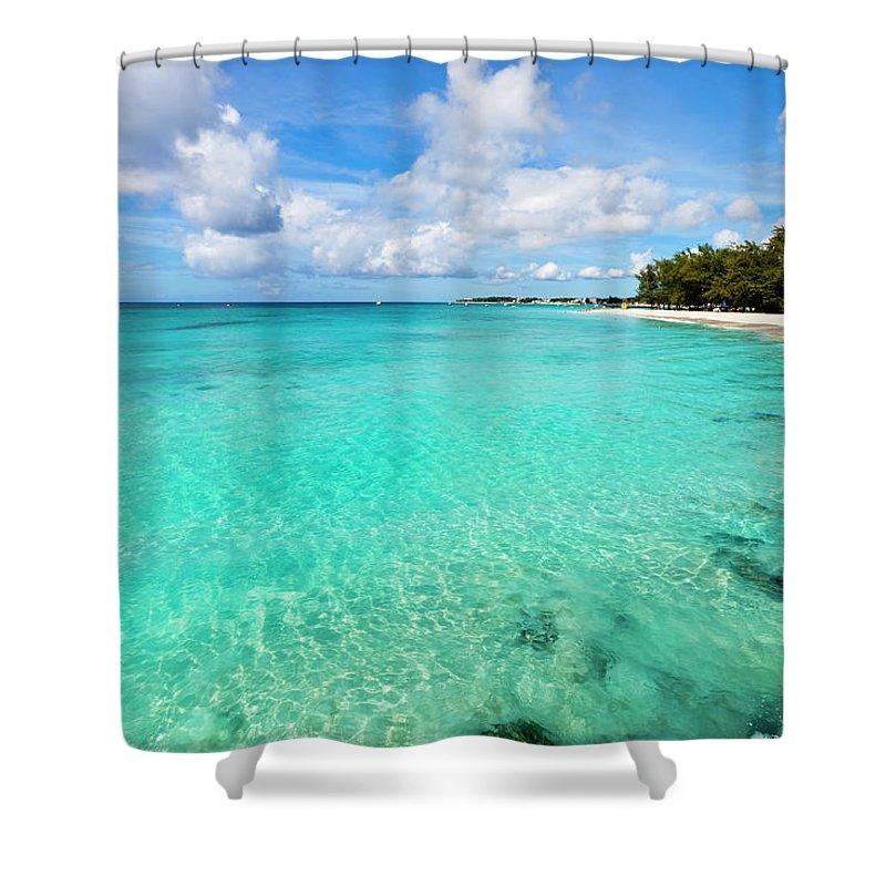 Water's Edge Shower Curtain featuring the photograph Miami Beach, Barbados by Flavio Vallenari