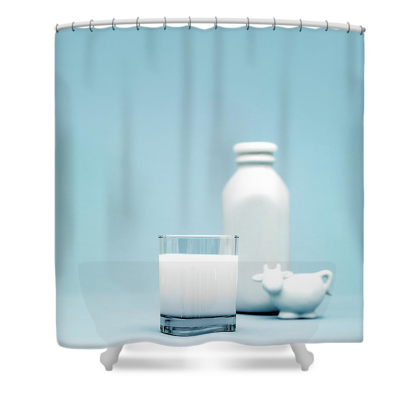Protein Drink Shower Curtain featuring the photograph Milk by Lisegagne