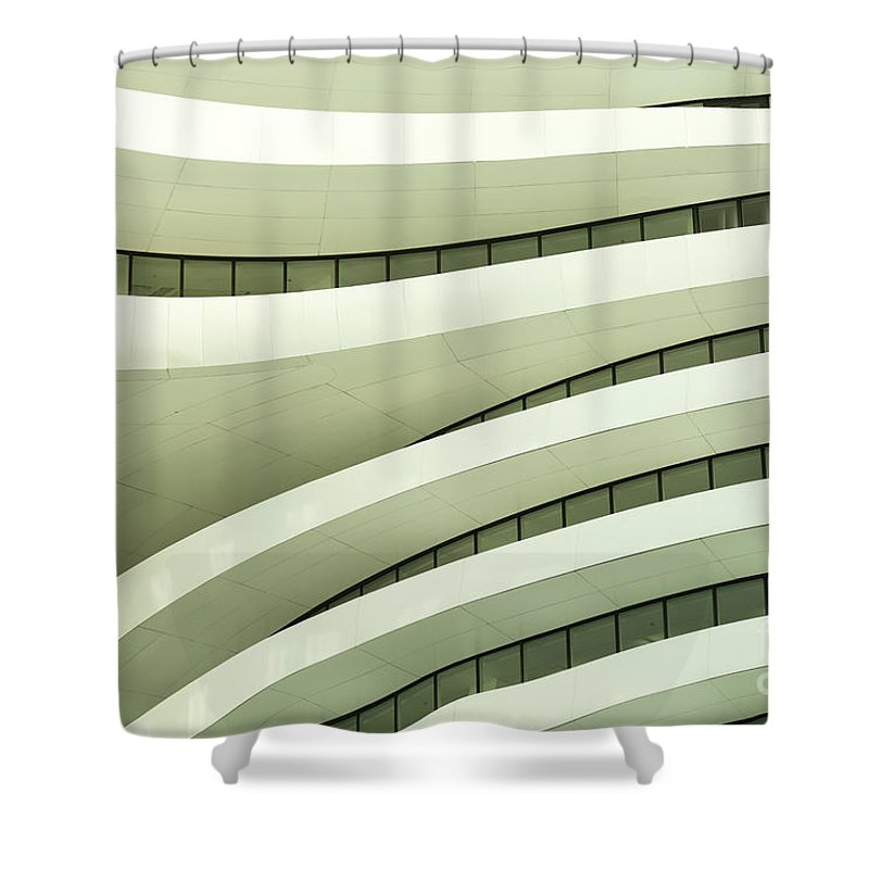 Arch Shower Curtain featuring the photograph Modern Architecture by Phototalk