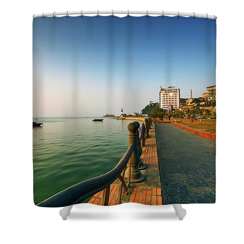 Dawn Shower Curtain featuring the photograph Morning Of Halong Bay by Andy Tan
