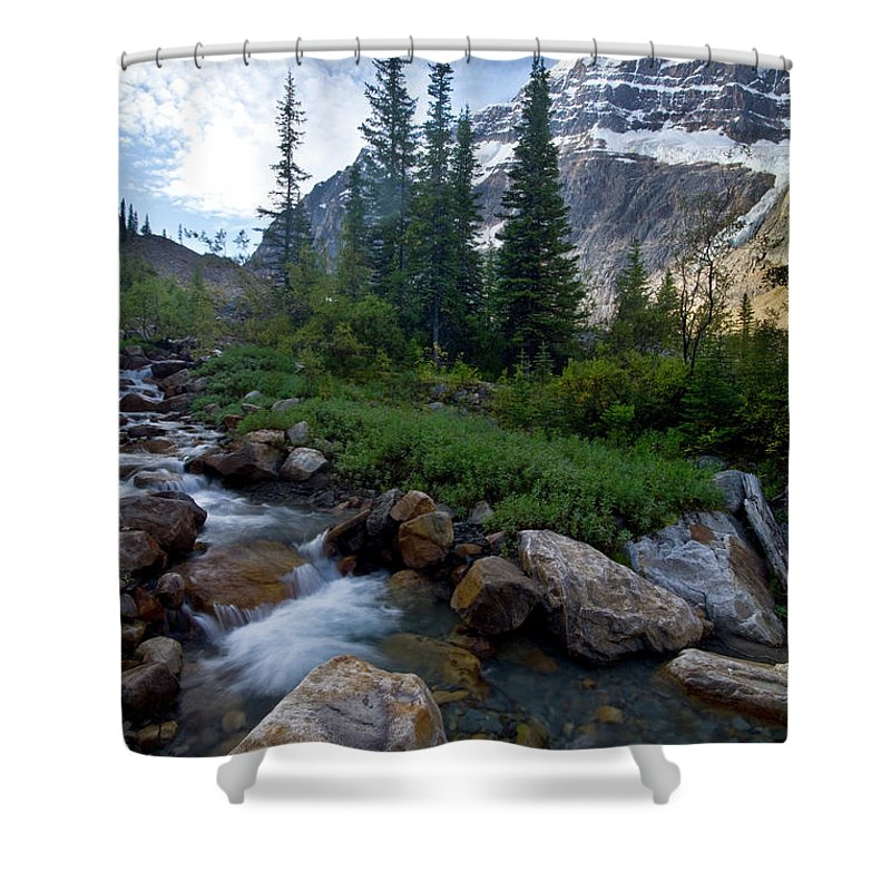 Tranquility Shower Curtain featuring the photograph Mount Edith Cavell by Visit Www.ronmiller.com