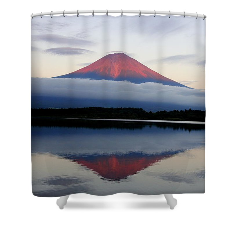 Scenics Shower Curtain featuring the photograph Mount Fuji by Japan From My Eyes