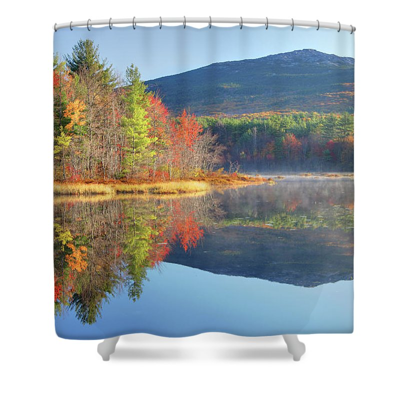 Scenics Shower Curtain featuring the photograph Mount Monadnock In Autumn by Denistangneyjr