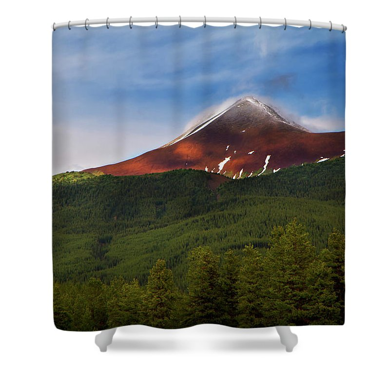 Scenics Shower Curtain featuring the photograph Mountain Peak - Jasper National Park by Adria Photography