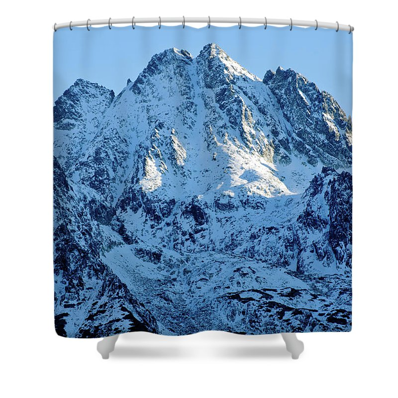 Scenics Shower Curtain featuring the photograph Mountain by Yorkfoto