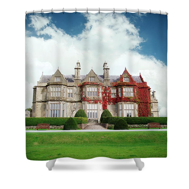 Grass Shower Curtain featuring the photograph Muckross House by Narvikk
