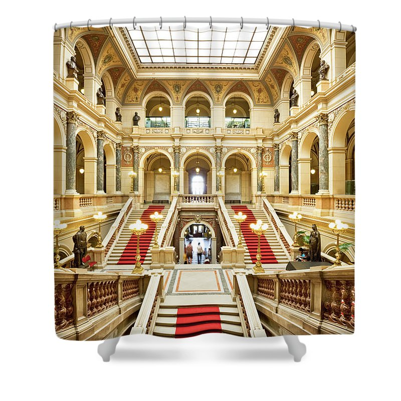 Steps Shower Curtain featuring the photograph Museum In Prague by Nikada
