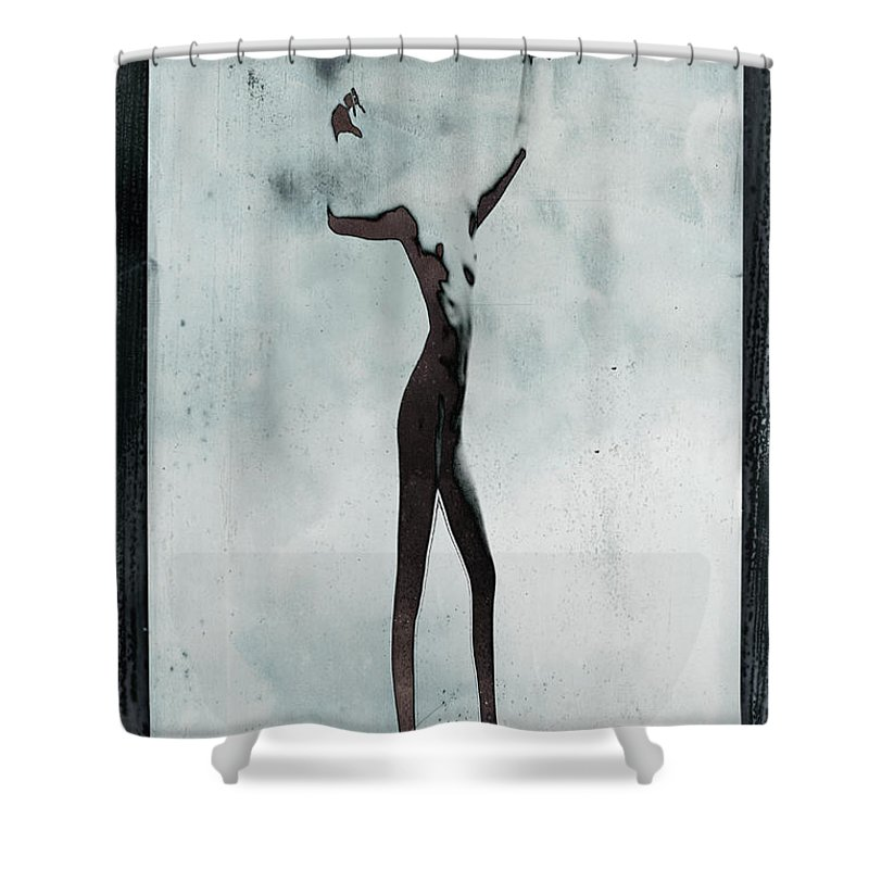Human Arm Shower Curtain featuring the photograph Naked Body Of Woman Without Head by Win-initiative