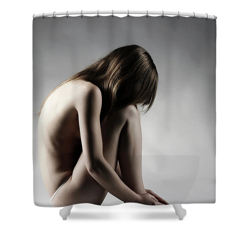 People Shower Curtain featuring the photograph Naked Woman by Buena Vista Images