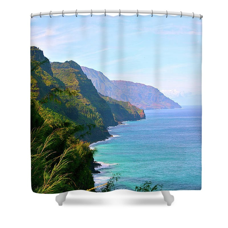 Nā Pali Coast State Park Shower Curtain featuring the photograph Napali by Sean M. Murphy Photography