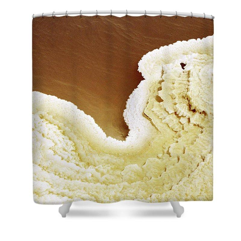 Mineral Shower Curtain featuring the photograph Natural Salt On A Salt Lake by Hans Neleman