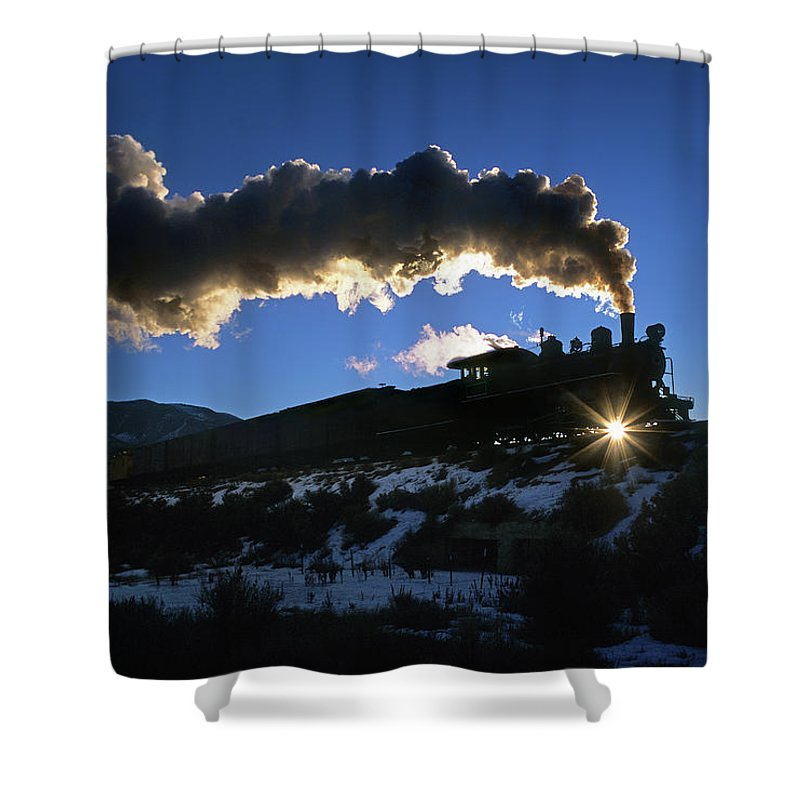 Freight Transportation Shower Curtain featuring the photograph Nevada Sunrise by Mike Danneman