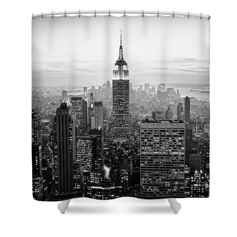 Outdoors Shower Curtain featuring the photograph New York City by Randy Le'moine