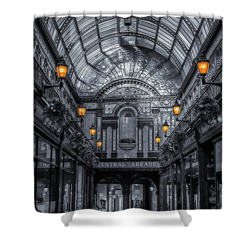 Central Shower Curtain featuring the photograph Newcastle Central Arcade by David Pringle