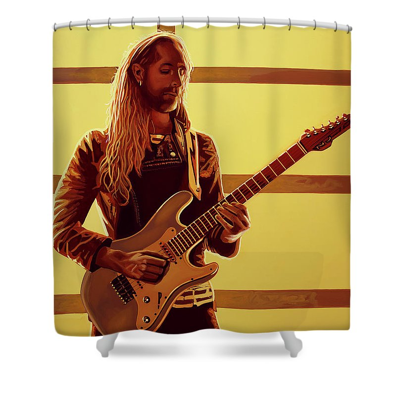 Nick Johnston Shower Curtain featuring the painting Nick Johnston Painting by Paul Meijering