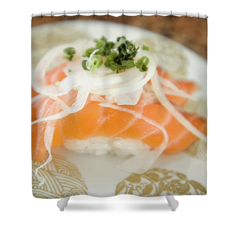 Japanese Food Shower Curtain featuring the photograph Nigiri by Lightnmotion