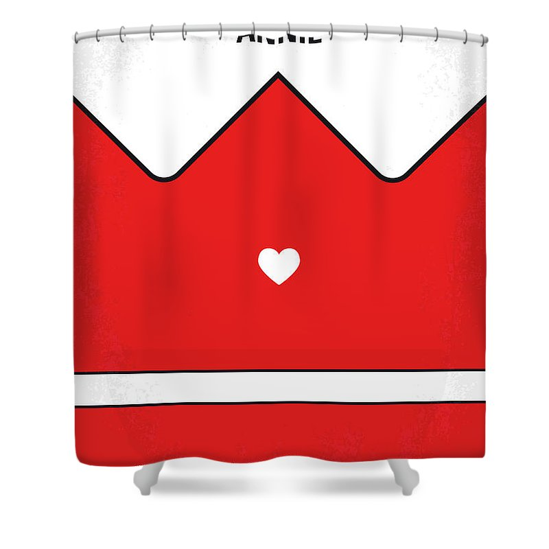 Annie Shower Curtain featuring the digital art No1027 My Annie Minimal Movie Poster by Chungkong Art