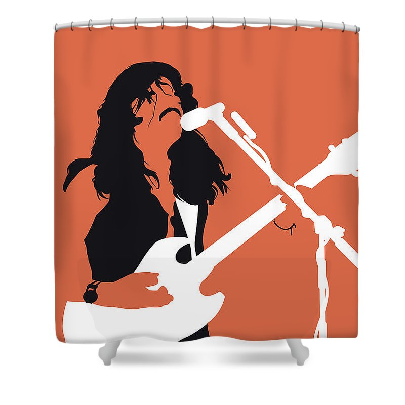Tags: Shower Curtain featuring the digital art No243 My Doobie Brothers Minimal Music Poster by Chungkong Art