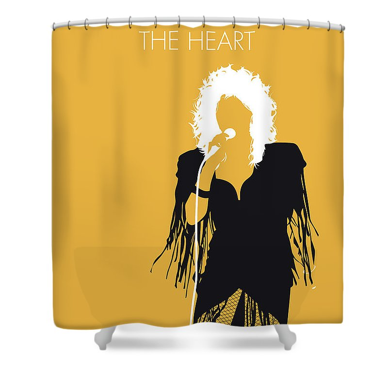 Bonnie Shower Curtain featuring the digital art No264 My Bonnie Tyler Minimal Music Poster by Chungkong Art