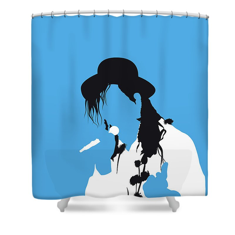 Karma Shower Curtain featuring the digital art No269 My Culture Club Minimal Music Poster by Chungkong Art
