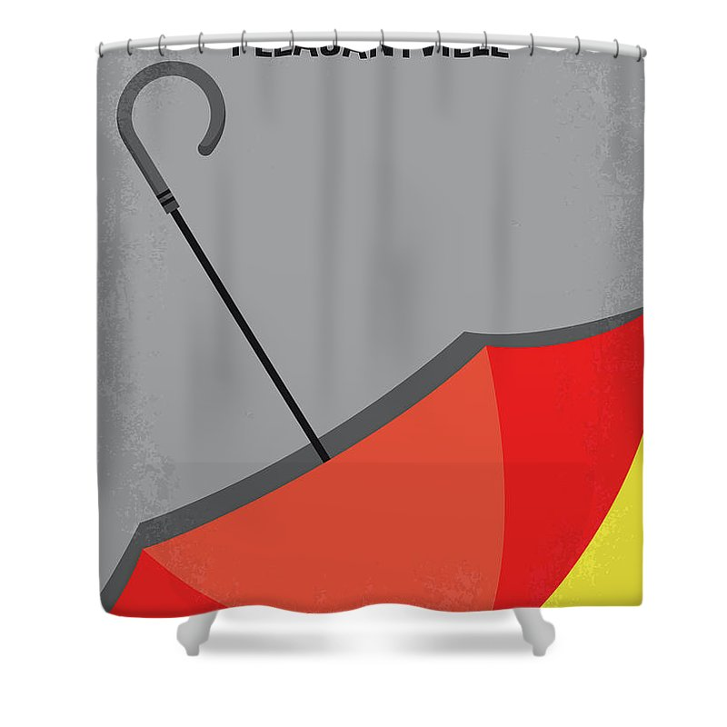 Pleasantville Shower Curtain featuring the digital art No990 My Pleasantville Minimal Movie Poster by Chungkong Art