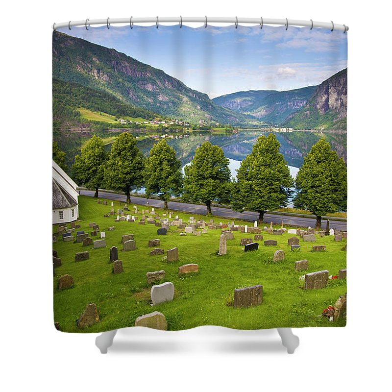 Tranquility Shower Curtain featuring the photograph Norway by Manuel Romaris