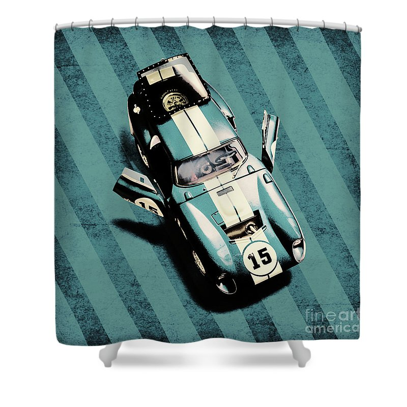 Car Shower Curtain featuring the photograph Number 15 by Jorgo Photography - Wall Art Gallery