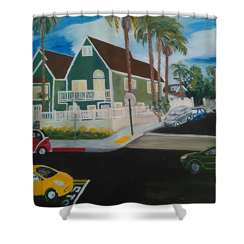 Painting Shower Curtain featuring the painting OB House by Andrew Johnson