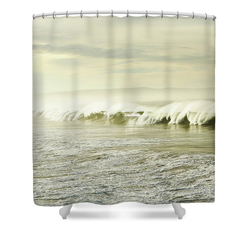 Pismo Beach Shower Curtain featuring the photograph Ocean At Sunrise by Kevinruss