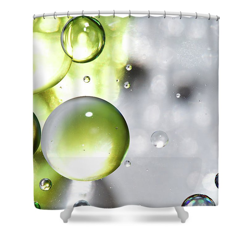 Mixing Shower Curtain featuring the photograph Oil Spheres by Dovate