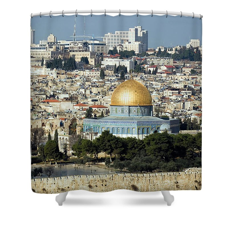 Scenics Shower Curtain featuring the photograph Old City Of Jerusalem by Claudiad