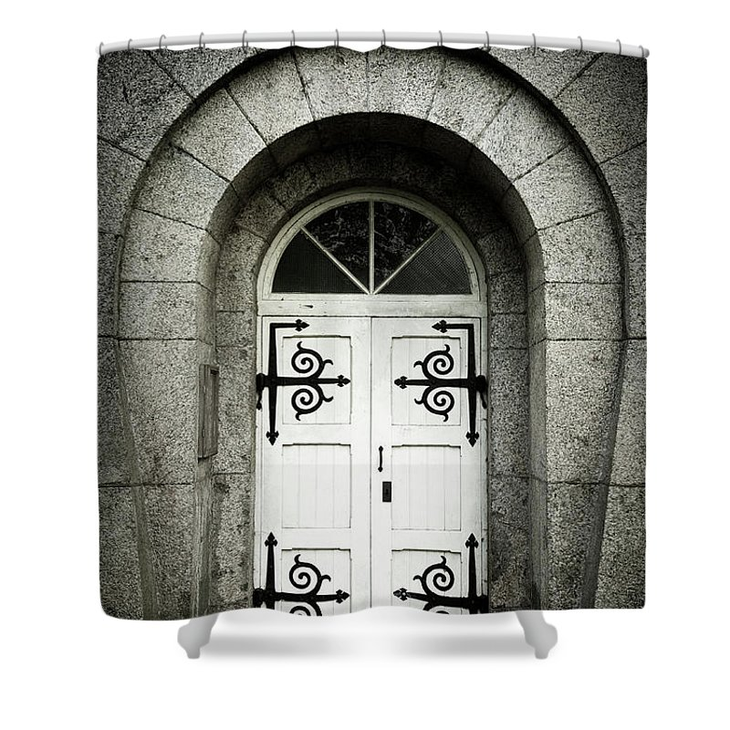 Arch Shower Curtain featuring the photograph Old Entrance by Lordrunar