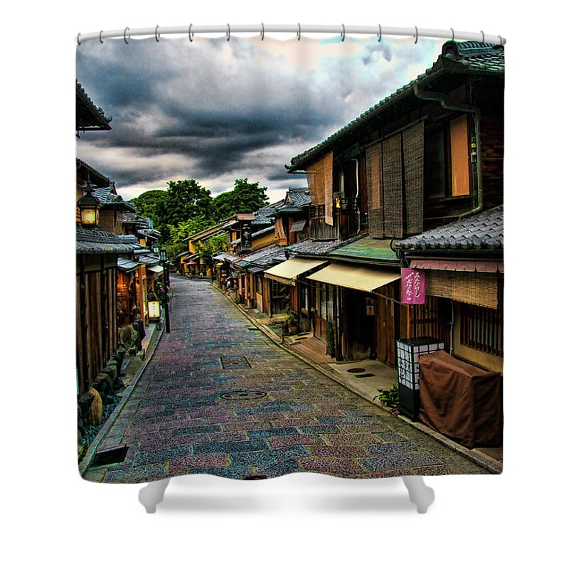 Tranquility Shower Curtain featuring the photograph Old Kyoto by Copyright Artem Vorobiev