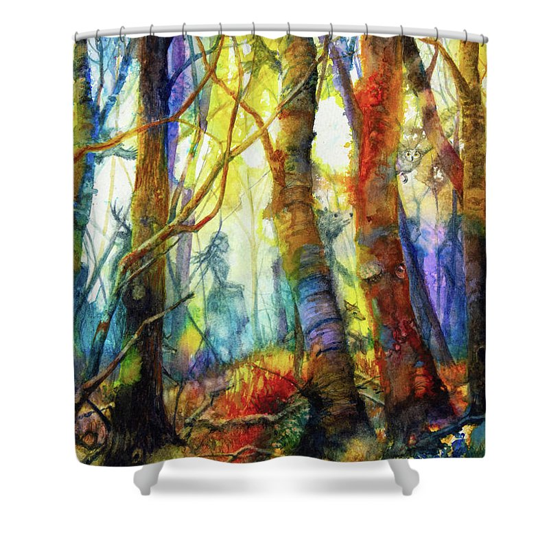 Shape Shifter Paintings Shower Curtains
