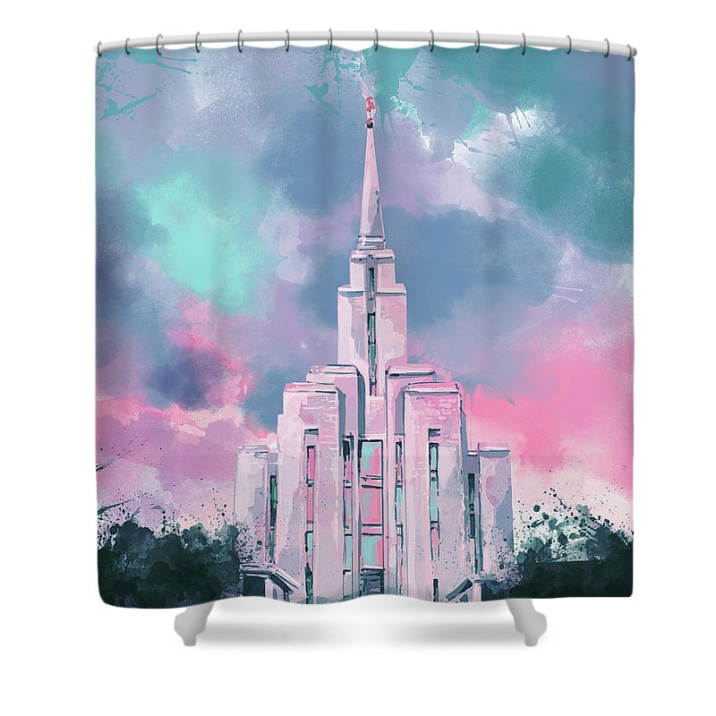 Lds Digital Art Shower Curtains