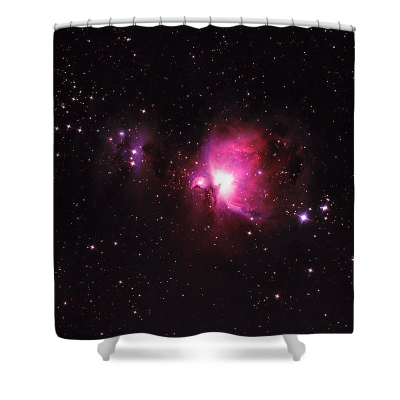 Natural Gas Shower Curtain featuring the photograph Orion Nebula by Plefevre