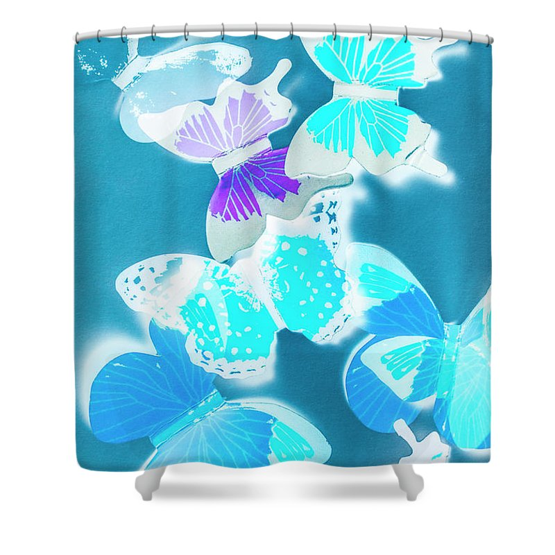 Blue Shower Curtain featuring the photograph Out Of The Blue by Jorgo Photography - Wall Art Gallery