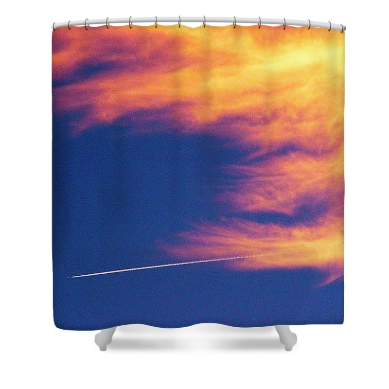 D1-l-1076-d Shower Curtain featuring the photograph Out Racing The Devil by Paul W Faust - Impressions of Light