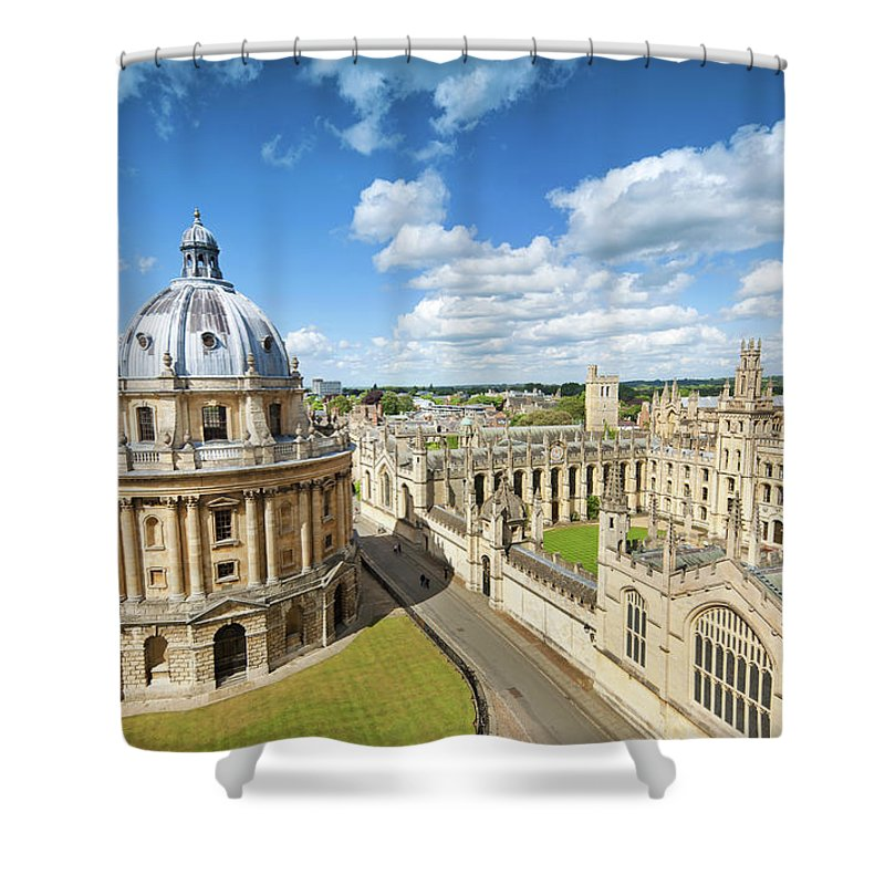 Education Shower Curtain featuring the photograph Oxford, Uk by Nikada